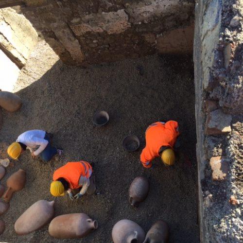 Parco Archeologico di Pompei - Schola Armaturarum - Scavo Amb. E.